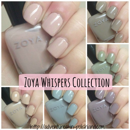Zoya Nail Polish Whispers Collection | Transitional 2016