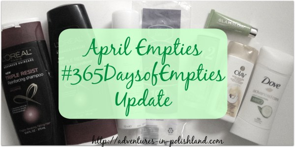 April Empties | #365DaysofEmpties Update