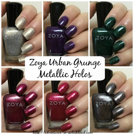 Zoya Nail Polish Urban Grunge Collection for Fall 2016 | Metallic Holos