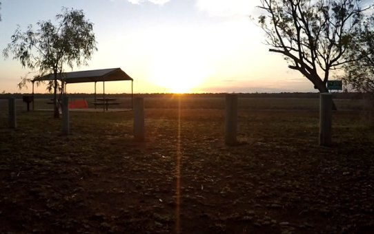 Sitting on the bank of Yarrie Lake