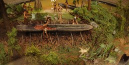 I love this diorama, which was made for the canoe exhibit.