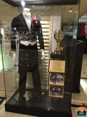 Donny's costume and trophy from Dancing with the Stars
