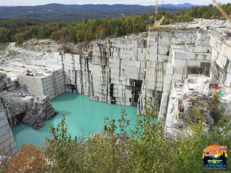 The Rock of Ages granite quarry