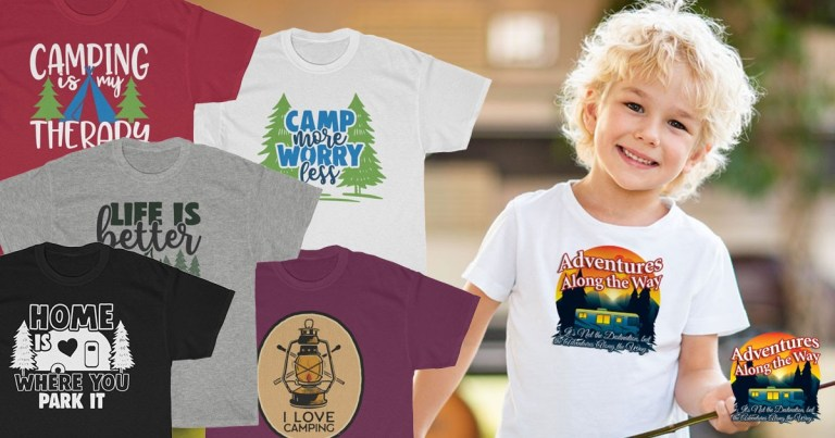 Variety of RV themed t-shirts
