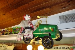 Only in Wisconsin will you find clowns riding in John Deere tractors.
