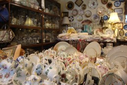 The antique tea cup store I pretended to enjoy on behalf of my grandma.