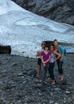 At the ice caves