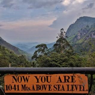 Het mooiste plekje van Ella, waar toch geen toeristen komen. Straf! Links little Adam's peak, rechts Ella Rock
