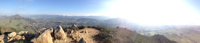 "You can see the Cal Poly Campus and ""P"" on one side of the 360 degree view from the summit."