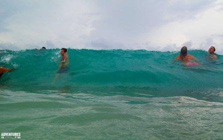 st maarten beach waves