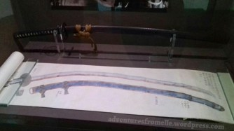Illustrated scroll on swords