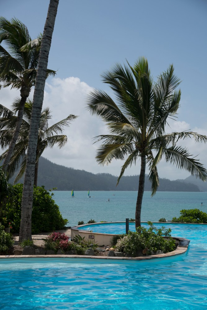 The perfect place to swim the 3 m deep Sails pool at Hamilton Island
