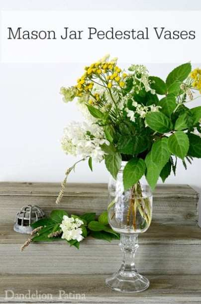 How To Make Mason Jar Pedestal Vases - HMLP 64 Feature