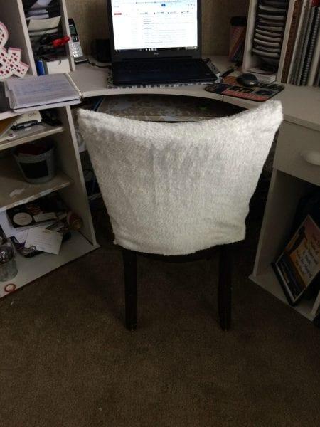 sneak peek of desk DIY