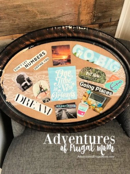 Creating A Vision Board to Help Me Stay on Track from North Carolina Lifestyle Blogger Adventures of Frugal Mom