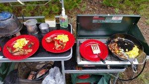Bacon, eggs, & morels