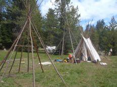 Striking camp