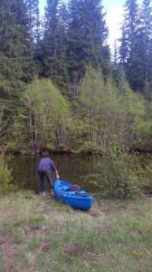 Andy luanching kayak