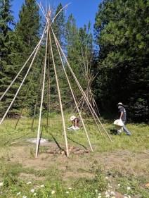 breaking camp