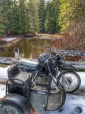 Andys KLR at Lost Creek Bridge
