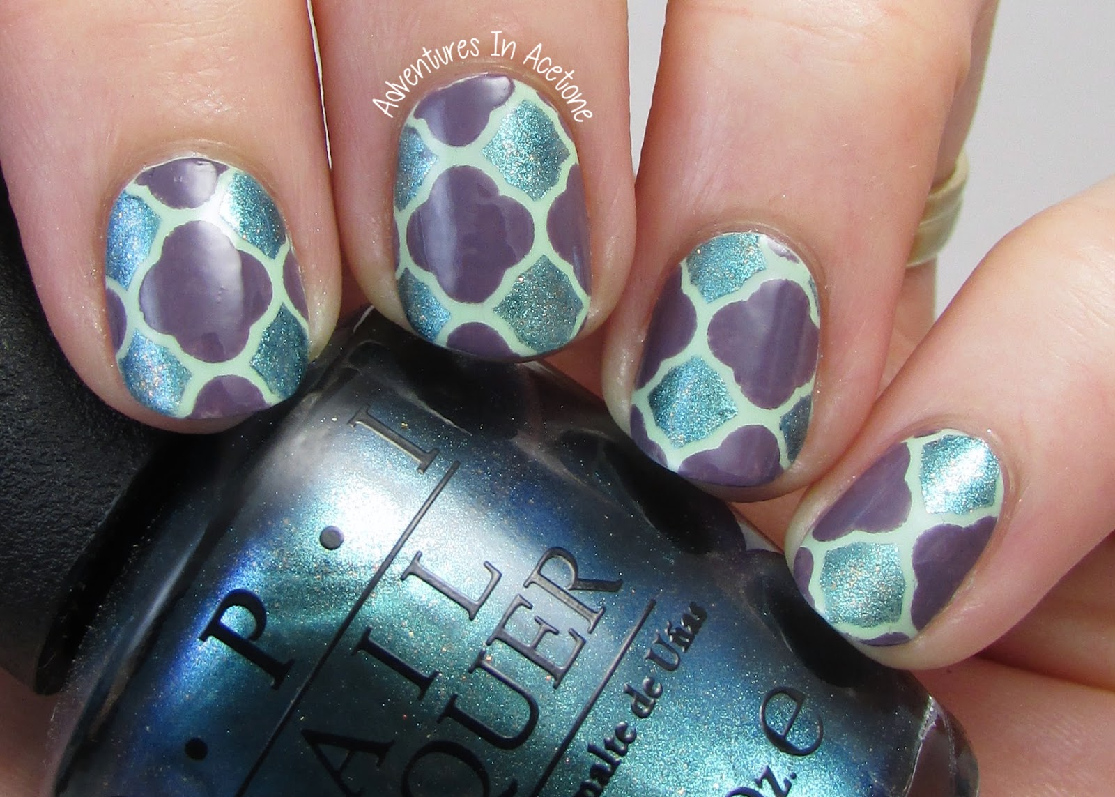 Quatrefoil Nail Art With Opi Hawaii Adventures In Acetone A Little While Back Manicurator Did This