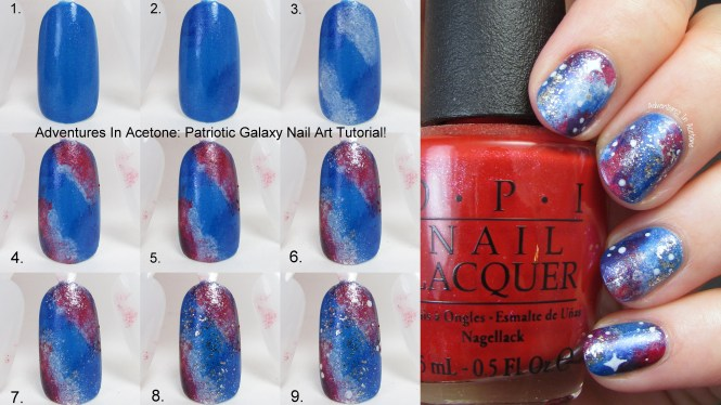 Galaxy Nail Art Tutorial Italiano Best Universe