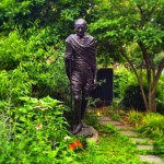Spotted in Union Square Mahatma Gandhi striding serenely forward Ahellip