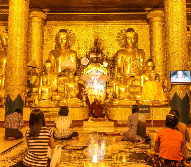 Temple, Shwedagon Pagoda, Myanmar