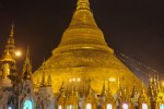 Nighttime at Shwedagon Pagoda, Myanmar
