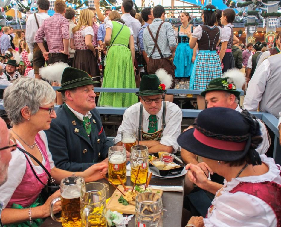 Beer tent, Oktoberfest, Munich