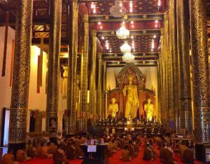 Golden moment I joined a legion of monks for worshiphellip