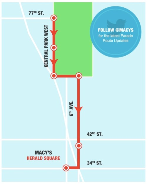 Macys Thanksgiving Day Parade Map
