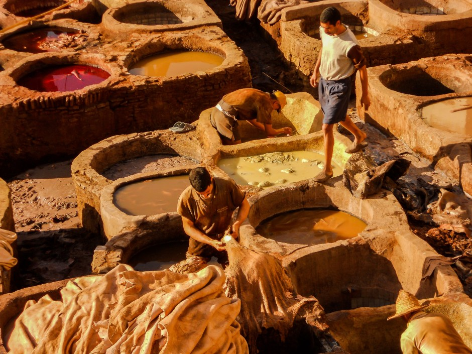 Tanneries, Fez, Morocco