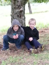 Boys Under Tree