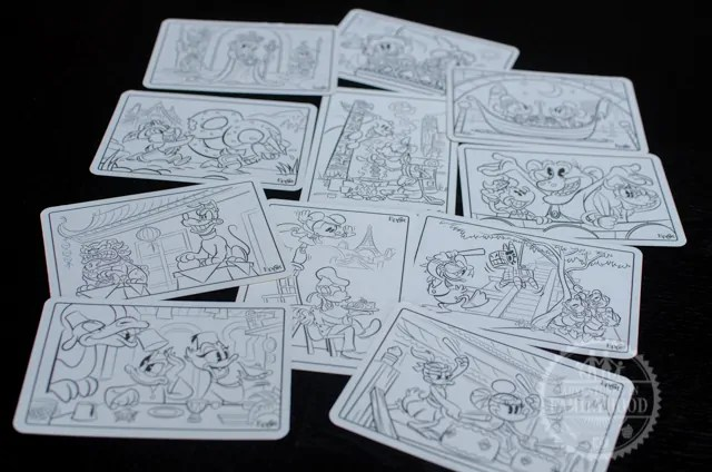 Epcot Kidcot Fun Stop Activity Card Coloring Scenes
