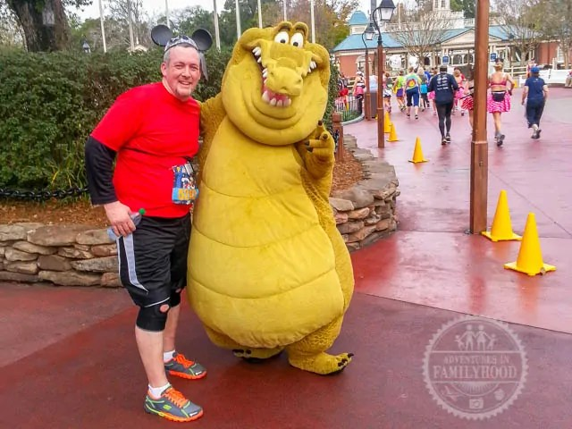 Louis Photo Op Magic Kingdom 2014 Walt Disney World Half Marathon