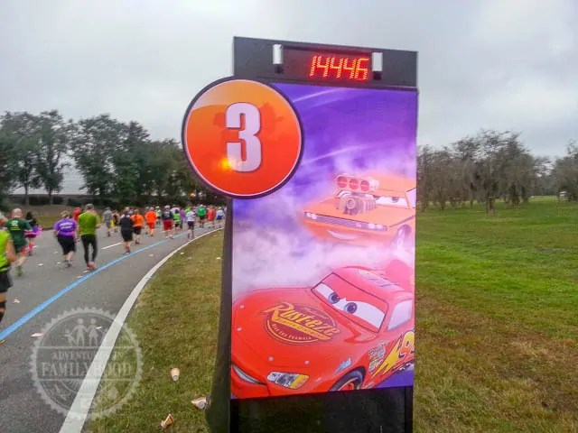 Mile Marker 3 of 2014 Walt Disney World Half Marathon Lightning McQueen