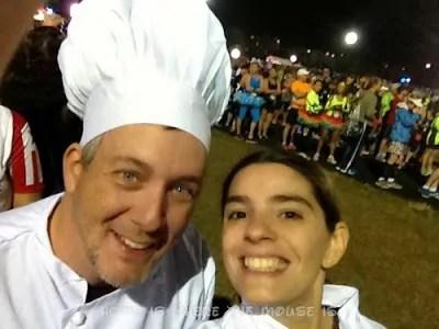 Lisa and I are ready to run the Wine & Dine Half Marathon