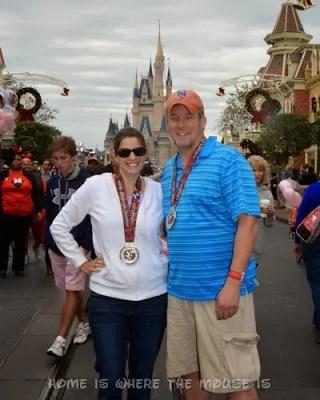 runDisney | Wearing our medals in Magic Kingdom | Wine & Dine Half Marathon