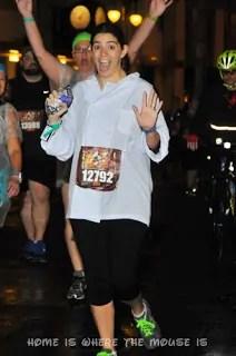 runDisney | Lisa posing for photo on course | Wine & Dine Half Marathon