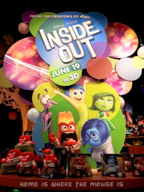 Disney's Inside Out Merchandise Display at the Disney Store