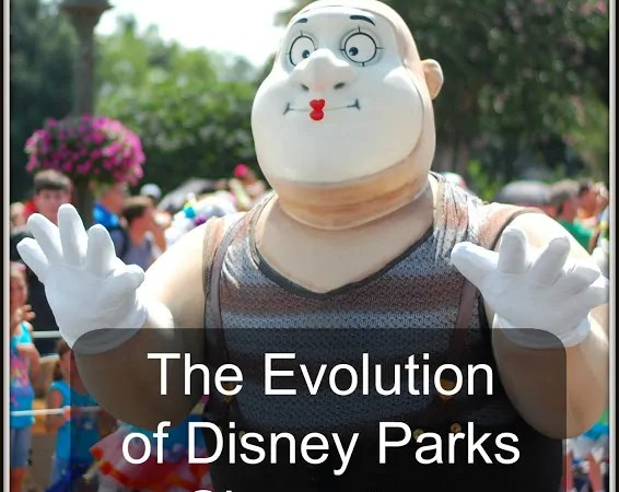 Evolution of Disney Parks Characters