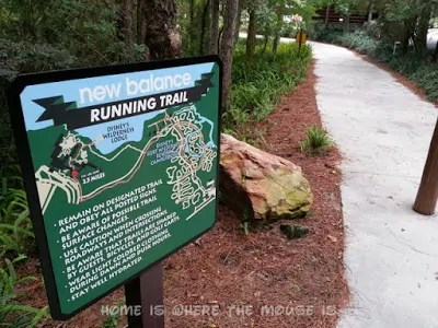 New Balance Running Trail at Disney's Wilderness Lodge