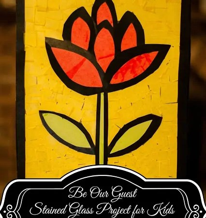 Be Our Guest Stained Glass Project for Kids