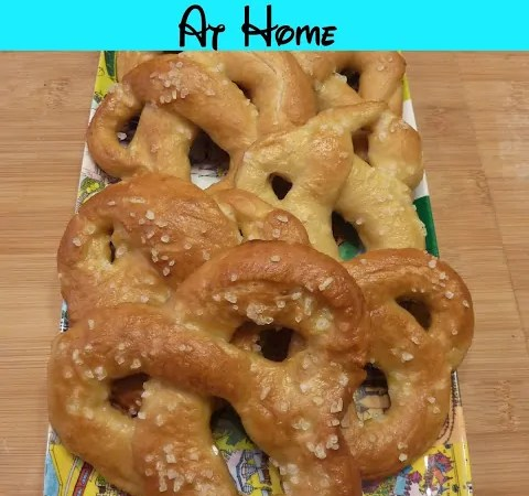 Mickey Soft Pretzels At Home