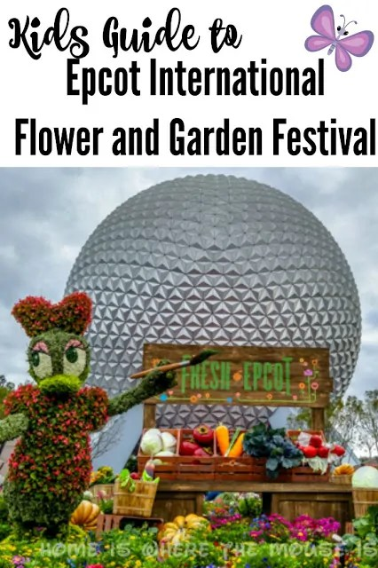 A Guide to all the great stuff for kids at the Epcot International Flower & Garden Festival