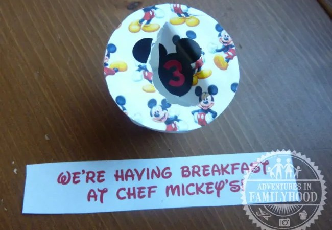 Recycled K-Cup Disney Vacation Countdown Chart