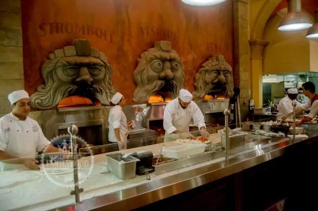 3 brick ovens in Via Napoli Restaurant