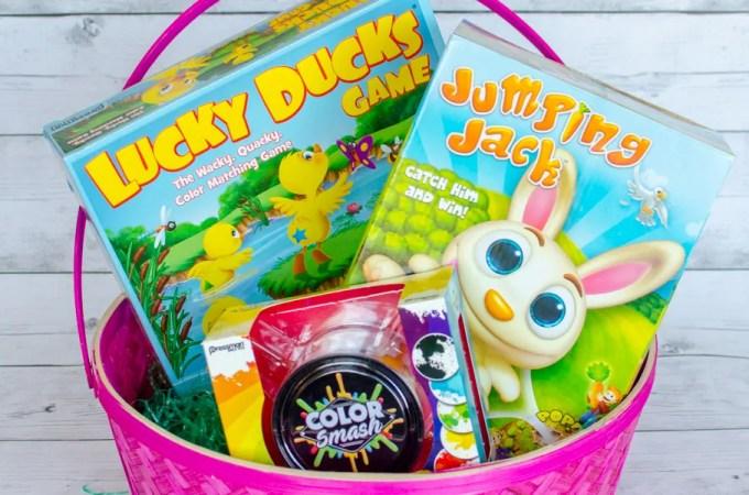 Easter Basket full of Goliath Pressman Games