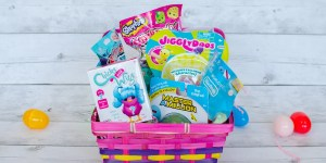Jakks Pacific Toy Easter Basket Squish-Dee-Lish Master a Million Chicks with Wigs Jiggly Doos